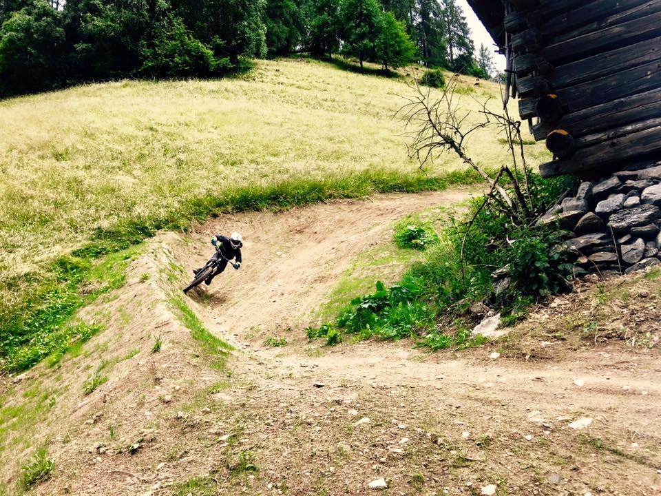 Die Steilkurven am Einseinsertrail